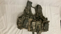 LIGHTWEIGHT MOLLE II ACU FLC ADJUSTABLE FIGHTING LOAD CARRIER W/ POUCHES JJ 1028
