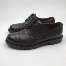 Vintage Mephisto Brown Pebbled Leather Lace-Up Casual Oxford Men's US 8