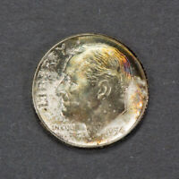 1954 10c SILVER ROOSEVELT DIME *NICE TONING* LOT#L836