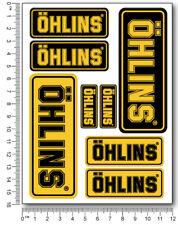Ohlins fork shock Laminated stickers decals graphics aprilia kawasaki ducati
