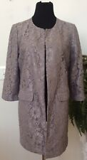 NWT Chico's Women Career Covert Gray Topper Lace Open Jacket Size 1 Retail $159