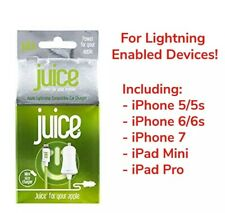 Juice iPhone/IPad Lightning 1 Amp Salida Cargador De Coche 1M Aprobado Por Apple Nuevo