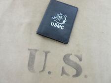 US Army Marines USMC Marine Corps Bulldogge Bulldog Leather Wallet Card Map #1