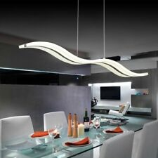 Modern LED Chandelier Ceiling Lighting Dining Room Warm White Wave Curve Luxury