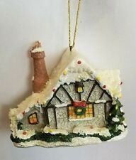 Kurt Adler Winter Snow Christmas Cottage Home Tree Holiday Season Ornament B