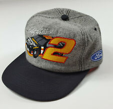 Vintage Rusty Wallace #2 Embroidered USA Made K Products NASCAR Snapback Hat