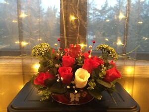 Red Rose Flower Pot