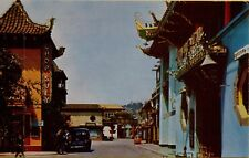 VTG Street Scene Chop Suey Old Car Chinatown Los Angeles California CA Postcard
