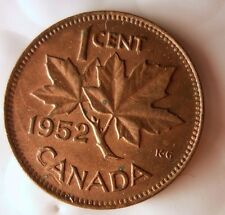 1952 CANADA CENT - Excellent Collectible Coin - FREE SHIPPING - Big Canada Bin