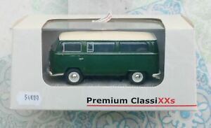 Premium ClassiXXs 1/43 11309 Volkswagen T2A L Bus Green - Toit crème