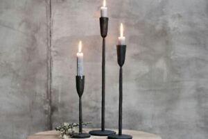 Mbata Single Candlesticks, Metal Antique Black, Nkuku, Rustic Lighting 3 sizes