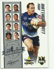 2012 NRL SELECT DYNASTY COWBOYS MATTHEW SCOTT TY8 TEAM OF THE YEAR CARD