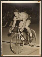 PARIS PARC DES PRINCES VAN VLIET CHAMPIONNAT MONDE SUR PISTE PHOTO PRESSE 1952