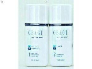 Obagi Gentle Cleanser and Toner 2 oz COMBO KIT TOTAL 4 OZ SEALED