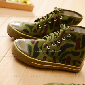 Vintage Kung Fu Training Tai chi Shoes Running Sneaker Labor Camouflage Boots