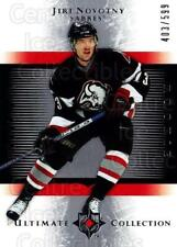 2005-06 UD Ultimate Collection #196 Jiri Novotny
