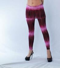 Red and Pink Ombre Stripe Fun Stretchy Knit Mini Skirt Leggings