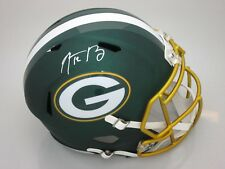 Packers AARON RODGERS Signed Replica BLAZE Speed Helmet AUTO - SB XLV - NFL MVP