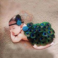 Newborn Baby Girl Boy Peacock Crochet Knit Costume Photography Prop Outfit Set