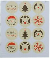 65 Merry Christmas Small Sticky White Paper Labels Envelope Seals £1.99 NEW