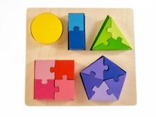 NEW Kiddie Connect Wooden Shape Fraction Jigsaw Puzzle
