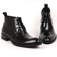 Mens 100% Real Leather Oxford Formal Dress Shoes Ankle Boots Business Fashion