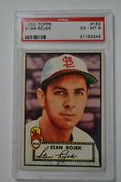 1952 Topps - Stan Rojek - #163 - Red Back - PSA 6 - EX-MT