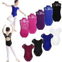 Kids Girls Ballet Dance Bodysuit Child Lace Gymnastics Leotards Sport Costumes