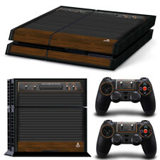 PS4 Playstation 4 Console Skin Decal Sticker Old Atari Retro Custom Design Set