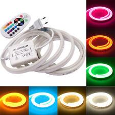 230V Neon LED Strip Streifen Leuchte Wasserdicht Flexibel diffus Dimmbar 1-100m