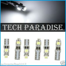 6x Ampoule T5 W1.2W (B8.3D) CanBus Anti erreur 3 LED SMD Blanc White Neo Wedge