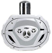 """New Boss MRWT69W 6x9"""" 550W 4-Way Marine Wake Tower Boat Waterproof Speaker White"""
