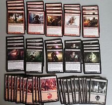 60 Card Deck - BLACK RED ALLIES - Ready to Play - Rare cards - Magic MTG FTG