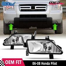 For Honda Pilot 2006-2008 Factory Bumper Replacement Fit Fog Lights Clear Lens