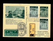Reco-Christkindl-Bildpostkarte Salzburg 29.11.1968 + LZ Salzburg, (1)   (CH16)