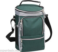 Polyester Sport Golf Picnic Out-door Activity Insulated Cooler Bag - Green