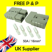 50 AMP Battery Connectors Terminal 16mm² Anderson Connector Compatible GREY 50A