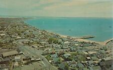 Vintage POSTCARDD c1950s Aerial View Looking East PROVINCETOWN, MA 19292
