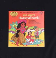 "DISNEYLAND It's A Small World 7"" Vinyl Long Playing Record 33 1/3 RPM 909 EP"