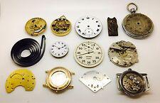 Lote de relojes de bolsillo trabajo marca movimientos Steampunk Repuestos Reparaciones 169.28 Gr