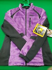 LADIES ICEPEAK WINTER WALKING FLEECE JACKET PURPLE-BLACK SIZE EU 36 size 8