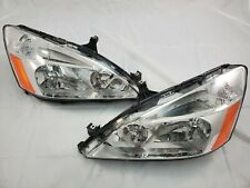 2003 2004 2005 2006 Honda Accord JDM Chrome Direct Replacement Headlight Set