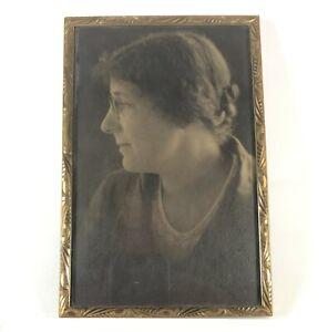 Antique Picture Frame Photo Frame Vintage Art Deco Metal Edge Embossed