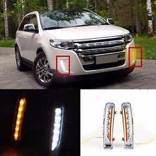 LED Daytime Running Lights For 11-14 Ford Edge Exact Fit White/Amber Switchback