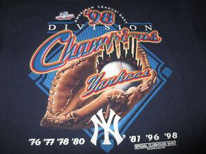 1998 American League NEW YORK YANKEES Champions (LG) T-Shirt DEREK JETER