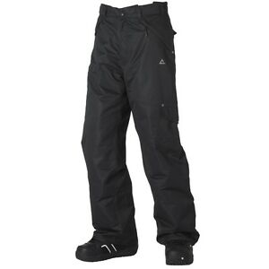 MEN'S DARE2B 'GET LOOSE' BLACK WATERPROOF AND BREATHABLE SALOPETTES/PANTS.