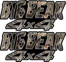 Big Bear 4x4 Camo Gas Tank Graphics Decal Sticker Atv Quad  250 350 400 500