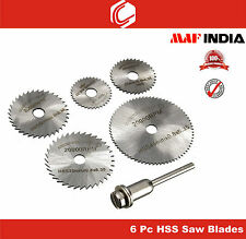 6pcs HSS Saw Blades for Metal & Dremel Rotary tools
