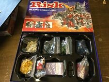 Risk Strategy Board Game Parker 2004 Golden Cavalry Piece Edition. Complete