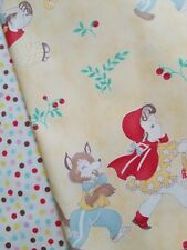 Moda Story Time Red Riding Hood 3little Bear Dot Cotton Fabric Lot Red Pink Blue